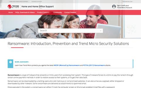 Preventing Ransomware Infection | Trend Micro Security