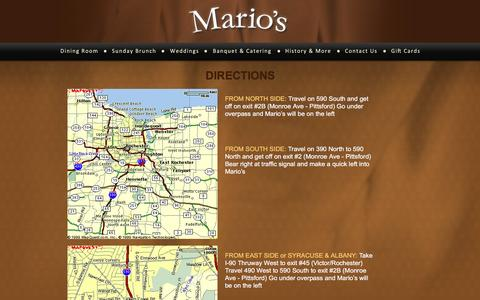 Screenshot of Maps & Directions Page mariosit.com - Directions - captured Nov. 19, 2016