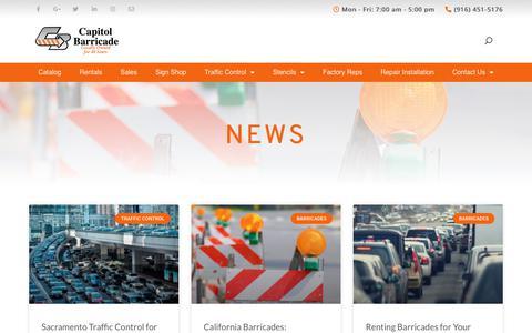 Screenshot of Press Page capitolbarricade.com - News   Capitol Barricade - captured Dec. 13, 2019