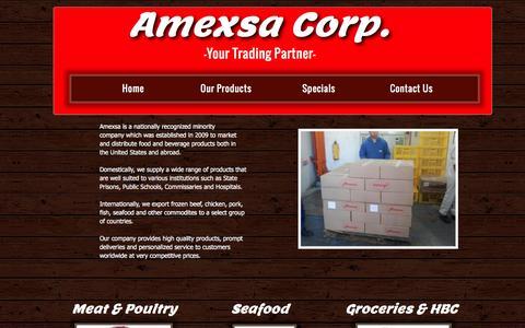 Screenshot of Home Page amexsacorp.com - Home - captured Dec. 25, 2015