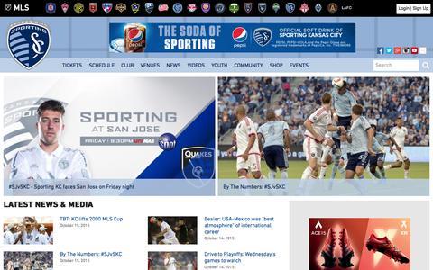 Screenshot of Home Page sportingkc.com - Sporting Kansas City - captured Oct. 15, 2015