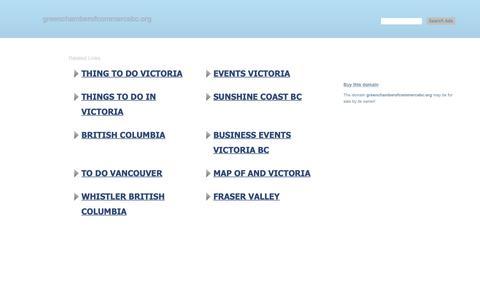 Screenshot of Home Page greenchamberofcommercebc.org - greenchamberofcommercebc.org-This website is for sale!-greenchamberofcommercebc Resources and Information. - captured Nov. 5, 2018
