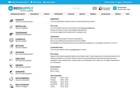 Screenshot of Privacy Page Contact Page bedsupply.eu - Veelgestelde Vragen | Bedsupply.eu - captured Sept. 10, 2016