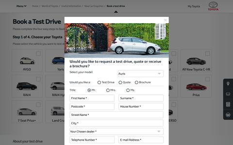 Book a Test Drive | Useful Information | Toyota UK