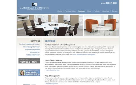 Screenshot of Services Page contractfurniturefl.com - Office Furniture Services | Contract Furniture - captured Oct. 3, 2014