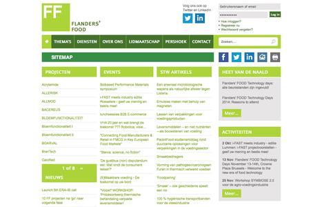 Screenshot of Site Map Page flandersfood.com - Sitemap | Flanders' FOOD - captured Sept. 30, 2014
