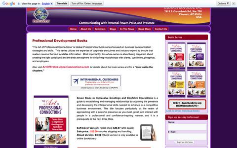 Screenshot of Products Page globalbusinessprotocol.com - Professional Development Books | - captured Sept. 28, 2018