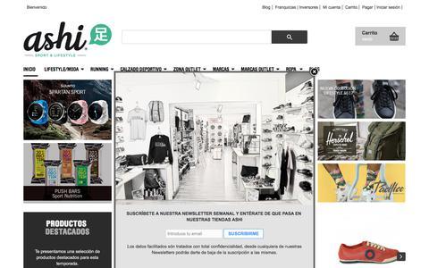 Screenshot of Home Page ashisports.es - Comprar Zapatillas Online. Tienda de zapatillas - captured Oct. 9, 2017
