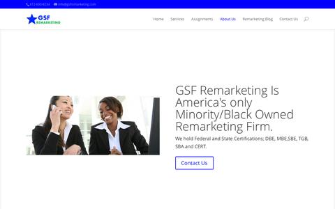 Screenshot of About Page gsfremarketing.com - About Us - Welcome to GSF Remarketing - captured Oct. 28, 2014