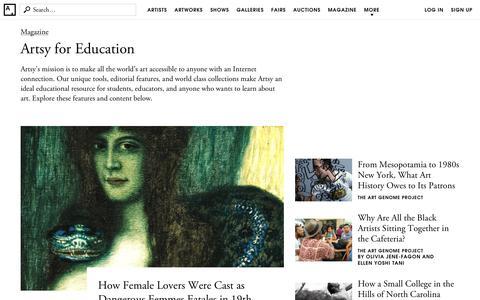 Artsy Education
