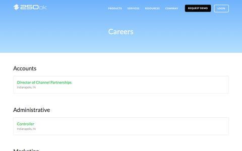 Careers | 250ok