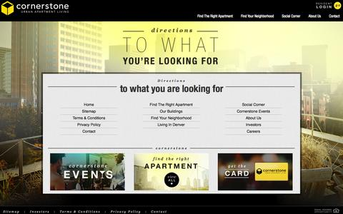 Screenshot of Site Map Page cornerstoneapartments.com - Sitemap - captured Sept. 19, 2014