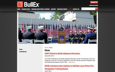 Screenshot of Press Page bullex.com - News Archives - Bullex - captured Sept. 30, 2014