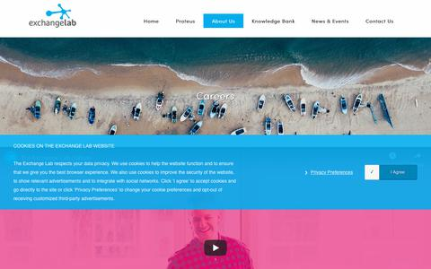 Screenshot of Jobs Page theexchangelab.com - Careers in Programmatic Advertising, Digital Programmatic AgencyThe Exchange Lab - captured Oct. 20, 2018