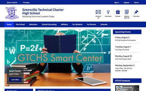 Screenshot of Home Page gtchs.org - Greenville Technical Charter High School / Homepage - captured July 14, 2018