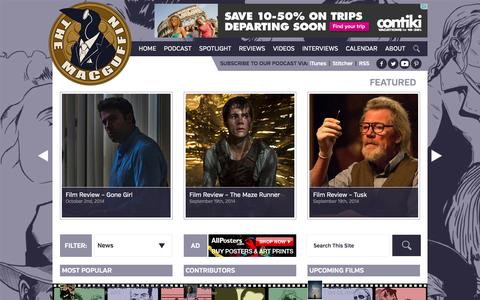 Screenshot of Press Page macguff.in - The MacGuffin: Film Reviews, Movie Interviews, Top 5's, and More - captured Oct. 3, 2014