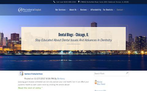 Screenshot of Blog pidentists.com - Dental Blog - Chicago, IL - Dr. Amarik Singh - Periodontist - captured Feb. 14, 2018