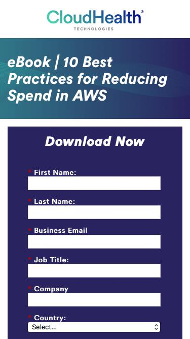 eBook | 10 Best Practices for Reducing Spend in AWS