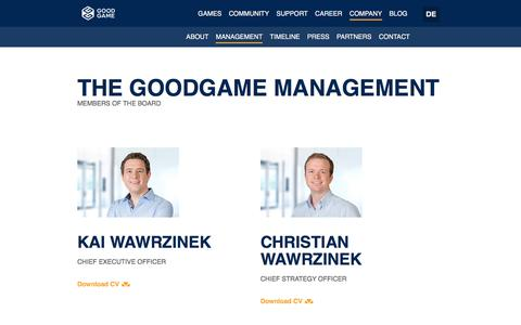 Screenshot of Team Page goodgamestudios.com - The Management | Goodgame Studios - captured Feb. 23, 2017