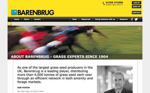 Screenshot of About Page barenbrug.co.uk - Barenbrug: Grass Seed Experts Since 1904 - captured Sept. 30, 2014