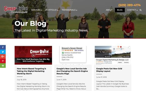 Screenshot of Blog cougardigitalmarketing.com - SEO & Digital Marketing Tips to Boost Your Business | Cougar Digital Blog - captured Aug. 12, 2019