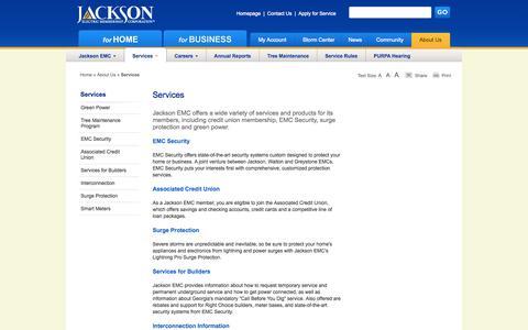 Screenshot of Services Page jacksonemc.com - Services   Jackson EMC - captured Sept. 25, 2014