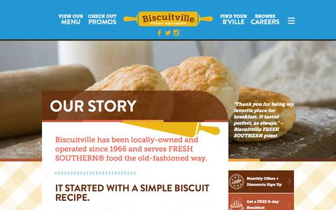 Screenshot of About Page biscuitville.com - Our Story | Biscuitville - captured Jan. 4, 2016