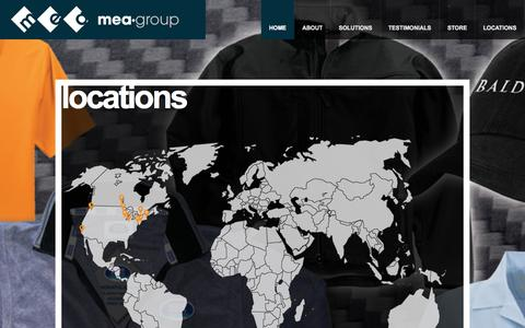 Screenshot of Locations Page meagroup.net - MEA Group | Marketing & Promotions - captured Sept. 30, 2014