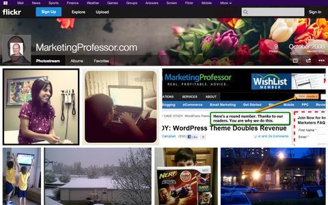 Screenshot of Flickr Page flickr.com - Flickr: MarketingProfessor.com's Photostream - captured Oct. 23, 2014