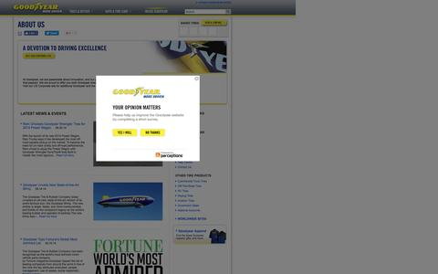 Screenshot of About Page goodyear.ca - Company Information | Goodyear Tires Canada - captured Dec. 25, 2016