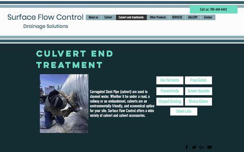 Screenshot of FAQ Page surfaceflowcontrol.com - Culvert | St. Albert | Surface Flow Control | Culvert end treatments - captured Sept. 21, 2018