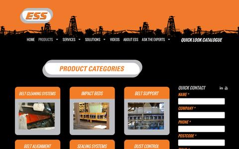 Screenshot of Products Page esseng.com.au - Bulk Handling Products   Australia   ESS Engineering Services & Supplies   ESS Engineering - captured Jan. 24, 2016