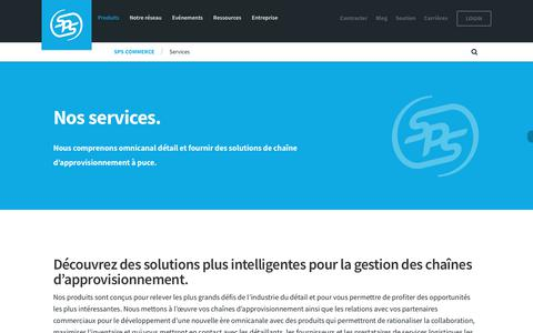 Screenshot of Services Page spscommerce.com - Services | SPS Commerce - captured April 21, 2018