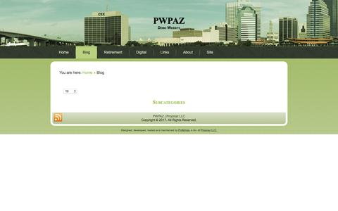 Screenshot of Blog pwpaz.com - Blog - PWPAZ - captured Aug. 21, 2017