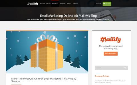 Screenshot of Blog mailify.com - Mailify Blog | Responsive Email Marketing - captured Dec. 21, 2015