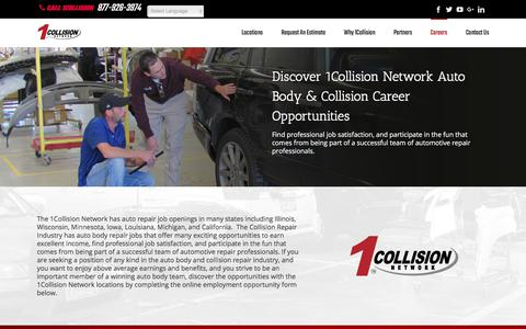Screenshot of Jobs Page 1collision.com - Auto Body and Collision Repair Jobs   1Collision Network - captured Oct. 19, 2017