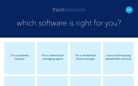 Screenshot of Products Page tracesolutions.co.uk - Products | Trace Solutions - captured Oct. 19, 2018