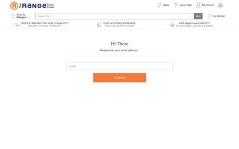 Screenshot of Login Page therange.co.uk - Login - captured June 29, 2017