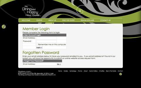 Screenshot of Login Page xsahm.com - Account Login - captured Feb. 15, 2016