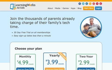 Screenshot of Signup Page learningworksforkids.com - Membership Signup | LearningWorks for KidsLearningWorks for Kids - captured Sept. 23, 2014