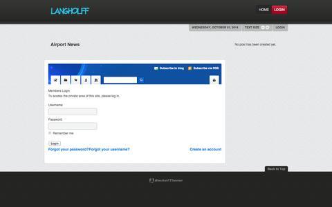 Screenshot of Login Page langholff.com - Login - captured Oct. 1, 2014