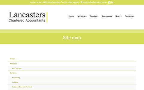 Screenshot of Site Map Page lancasters.uk.net - Website Site map : Lancasters, Haddenham & Great Missenden - captured Sept. 26, 2018