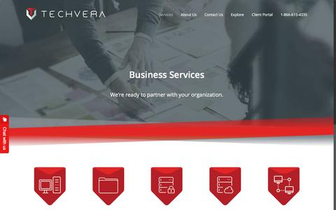 Screenshot of Services Page techvera.com - Business Services at Techvera - captured July 6, 2018