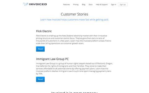 Screenshot of invoiced.com - Invoiced   Customers - captured Dec. 17, 2016