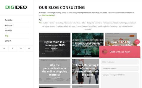 Screenshot of Blog digideo.co - Digideo Blog Consulting - captured July 22, 2019