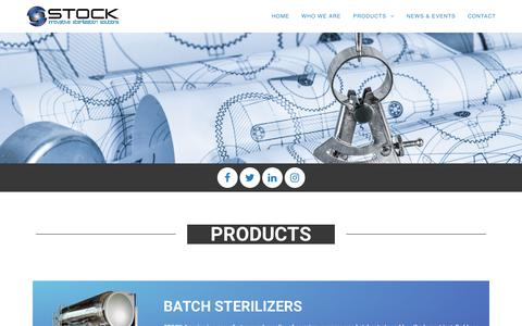 Screenshot of Products Page stockamerica.com - PRODUCTS | STOCK AMERICA - captured Oct. 1, 2018