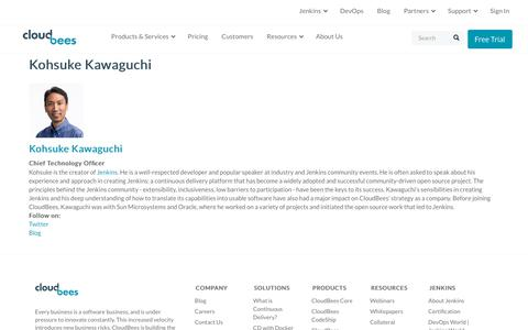 Screenshot of Team Page cloudbees.com - Kohsuke Kawaguchi | CloudBees - captured Aug. 8, 2018