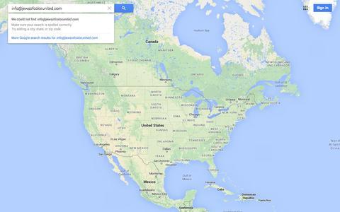 Screenshot of Maps & Directions Page google.com - Google Maps - captured Nov. 3, 2014
