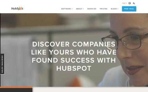 Screenshot of Case Studies Page hubspot.com - Inbound Marketing Software Success Stories | Customer Case Studies - captured Feb. 12, 2016