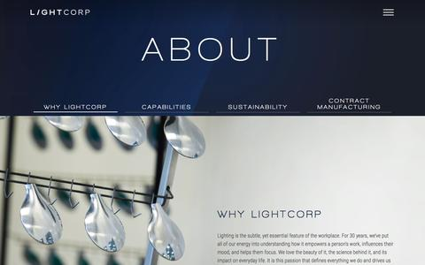 Screenshot of About Page lightcorp.com - Why Lightcorp   LightCorp - captured Nov. 8, 2016